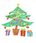 16087053-colorful-drawing-of-decorated-christmas-tree-and-presents-child-style
