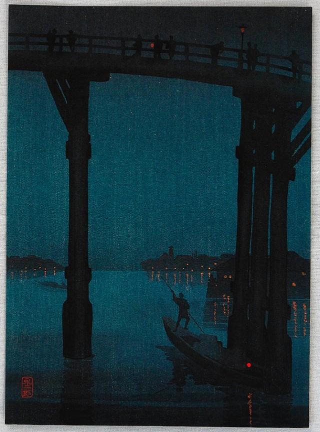 A High Bridge by Night Eijiro Kobayashi